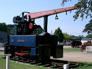Crane tank - A Robert Stephenson and Hawthorns crane tank at Bressingham