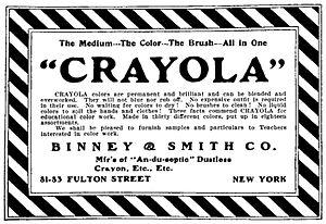 Crayola - Image: Crayola Ad 1905