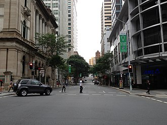Creek Street, Brisbane - Creek Street from Queen Street intersection.