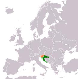 Cartina Della Slovenia E Croazia.Confine Tra La Croazia E La Slovenia Wikipedia