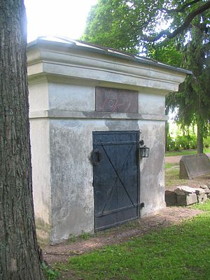 Church of St. Lawrence, Vantaa - The mausoleum of Carl Olof Cronstedt.
