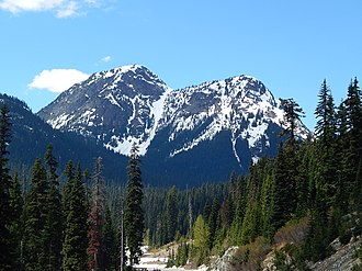 Crooked Bum - Crooked Bum seen from westbound North Cascades Highway