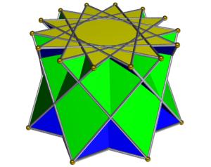 Heptagrammic cupola - Image: Crossed heptagrammic cupola