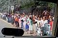 Crowd Waves to Motorcade Carrying President Obama, Secretary Kerry in Havana, Cuba (25877756442).jpg