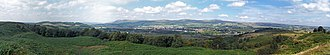 Kilsyth - Panorama from Croy Hill and the Antonine Wall, looking over Kilsyth towards the Kilsyth Hills.