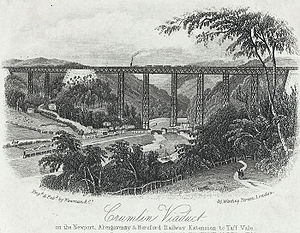 Crumlin Viaduct - Image: Crumlin viaduct on the Newport, Abergavenny & Hereford railway extension to Taff vale