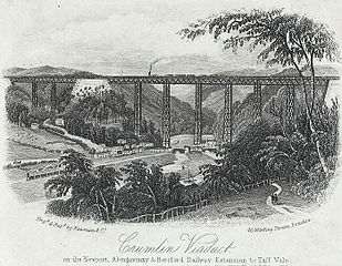 Crumlin viaduct on the Newport, Abergavenny & Hereford railway extension to Taff vale