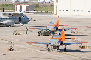 Salamanca Airport - CASA C101's and CASA CN235 of the Spanish Air Force at the airport