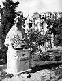 Déryné szobra (Ligeti Miklós, 1935.). Fortepan 52022.jpg