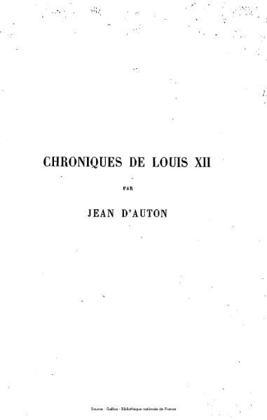 File:D'Auton - Chroniques de Louis XII, tome 2.djvu