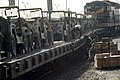 DA-ST-87-13012 M151 light utility vehicles are tied down to railroad flatcars for shipment to the port at Pusan at the conclusion of the joint US South Korean Exercise TEAM SPIRIT '87.jpeg