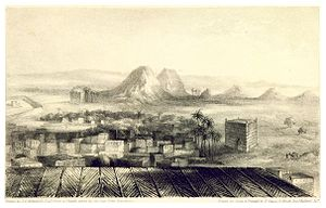 Noun River (Morocco) - Wadnoon or Wadi Noun (1837) at the Noun River