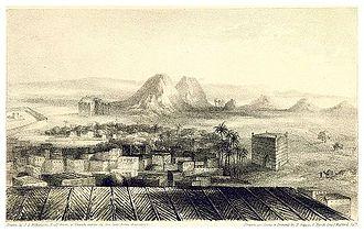 Noun River (Morocco) - Wadnoon or Wadi Noun (1837) at the Noun River