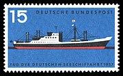 DBP 257 Tag der deutschen Seeschifffahrt 15 Pf 1957.jpg