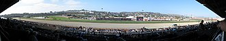 Del Mar racetrack - Panoramic view of the Del Mar Racetrack from the grandstand