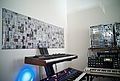 DSI Prophet '08, DSI Poly Evolver, Doepfer A-100 Analog Modular System, Elektron Music Machines Octatrack, Moog Minimoog Voyager, and ModularGrid.net Poster angled view.jpg
