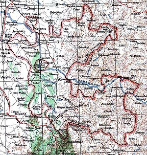 Annexation of Dadra and Nagar Haveli - Map of Dadra and Nagar Haveli in the 1950s.