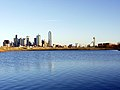 Dallas Texas skyline from water in 2002.jpg