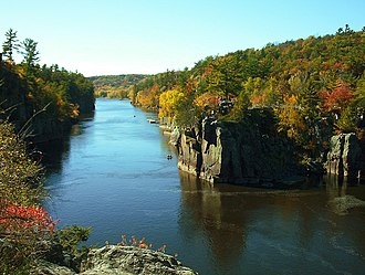 Interstate Park - The Dalles of the St. Croix River seen from the Wisconsin bank