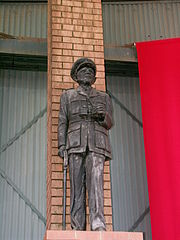 Statue de Dan Pienaar au South African national Museum of Military History à Johannesburg