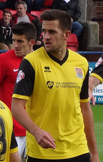 Darren Carter - Carter playing for Northampton Town in 2014