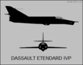 Dassault Etendard IVP two-view silhouette.png