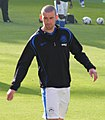 David Jones warming up, Wigan Athletic v Bolton Wanderers, 15 October 2011.jpg