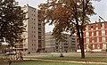 Deák Ferenc utca - Lövölde utca sarok, balra Horvát István út torkolatánál álló pontház. Fortepan 21442.jpg