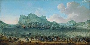Adam Willaerts - Image: De overwinning op de Spanjaarden bij Gibraltar door een vloot onder bevel van Jacob van Heemskerck, 25 april 1607 Dutch victory in the battle of Gibraltar (Adam Willaerts, 1617)