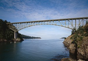 National Register of Historic Places listings in Island County, Washington - Image: Deception pass bridge