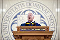 Defense.gov News Photo 110522-D-XH843-001 - Secretary of Defense Robert M. Gates speaks during the University of Notre Dame commencement ceremony in South Bend, Ind., on May 22, 2011.jpg