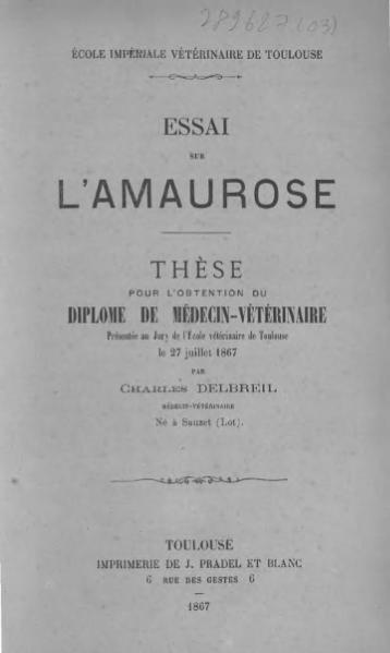 File:Delbreil - Essai sur l'amaurose.djvu