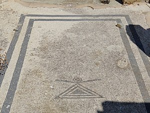 Hellenization - One of the mosaics of Delos, Greece with the symbol of the Punic-Phoenician goddess Tanit