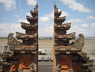 The island of Bali is served by Ngurah Rai International Airport, currently the country's 3rd busiest airport, located south of Denpasar