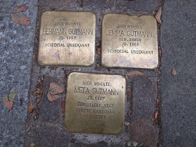 File:Dessau,Stolperstein Kavalierstraße66,Gutmann.JPG