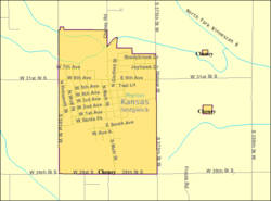 Detailed map of Cheney, Kansas