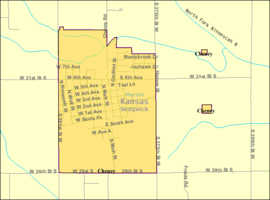 Detailed map of Cheney, Kansas.png