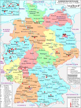 deutschlandkarte landesgrenzen Deutschland – Wikipedia