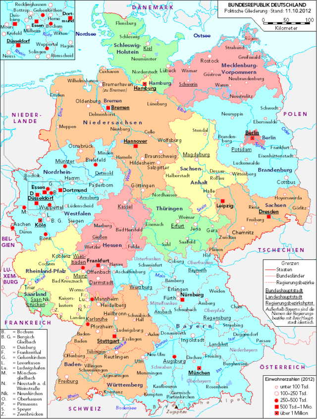 List Of Cities And Towns In Germany Wikiwand - Quakenbruck germany map