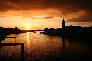 IJssel - Sunset on the IJssel at Deventer