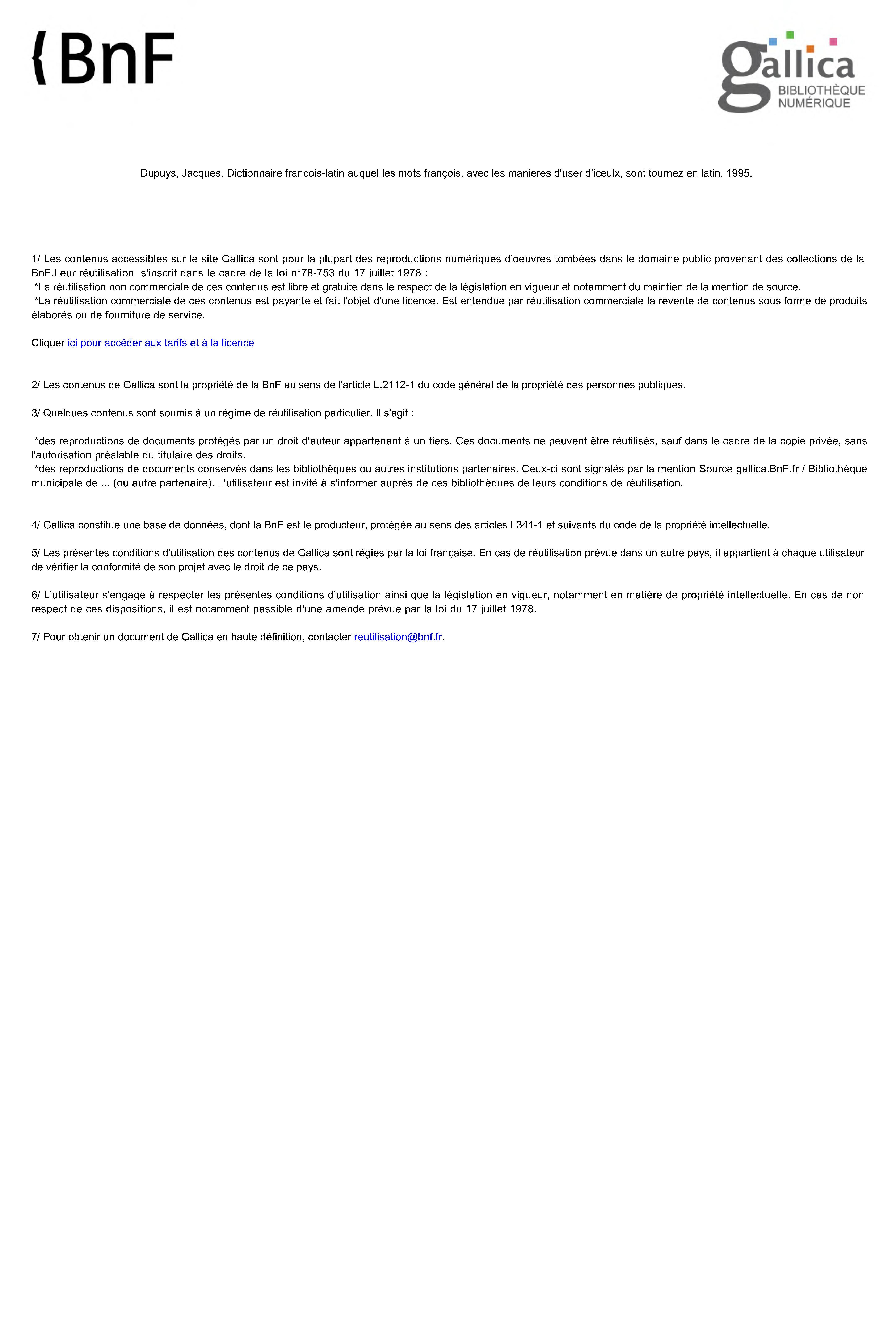 Fichier Dictionaire Francois Latin De Jean Nicot 1573 Ah Djvu