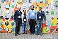Dimitry, Stas, Mehman and Kaarel at Wikimedia Summit 2019.jpg