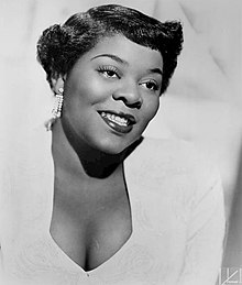 portrait of Dinah Washington, 1952