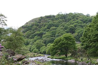 Dinas Emrys - Dinas Emrys with the River Glaslyn in the foreground