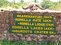 Directional sign within Arusha National Park 2015-01-10.jpg