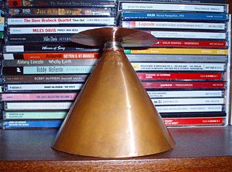 Discone antenna - Discone made of solid copper sheets, theoretically covering 700MHz to 2GHz.