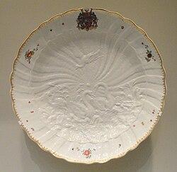 Dish from the Swan Service, 1738, Meissen Porcelain Manufactory, modeled by Johann Joachim Kandler and Friedrich Eberlein - Art Institute of Chicago - DSC00006.JPG