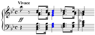 Consonance and dissonance - A sharply dissonant chord in Bach's Well-Tempered Clavier, Vol. I (Preludio XXI)