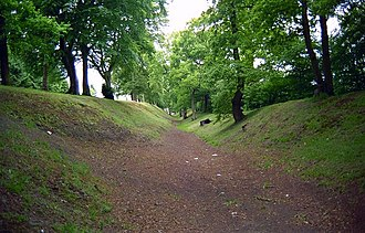 Watling Lodge - Image: Ditch of the Antonine Wall at Watling Lodge (geograph 1649848)