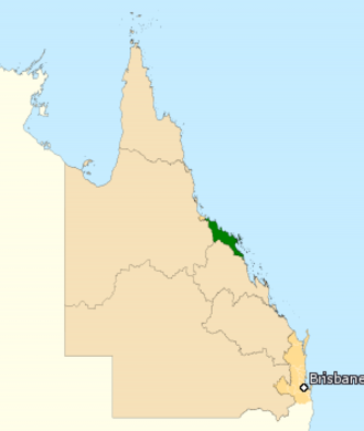 Division of Dawson - Division of Dawson in Queensland, as of the 2016 federal election.